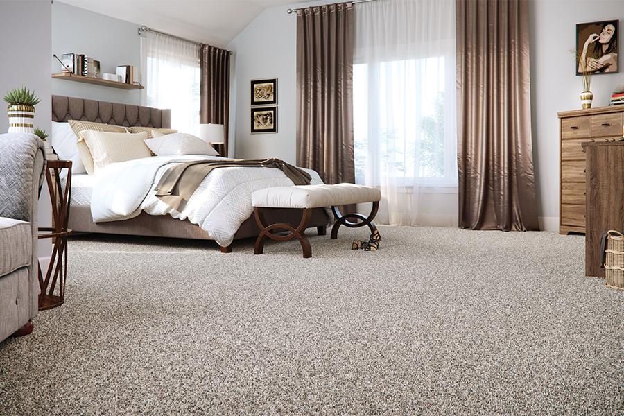Plush new carpet flooring, helping to improve air quality