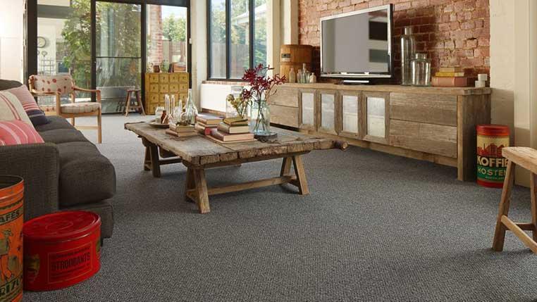 Advantages Of Darker Color Carpets, Dark Carpet Living Room