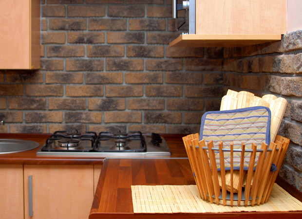 Great brick backsplash available in Jacksonville, FL from About Floors n More