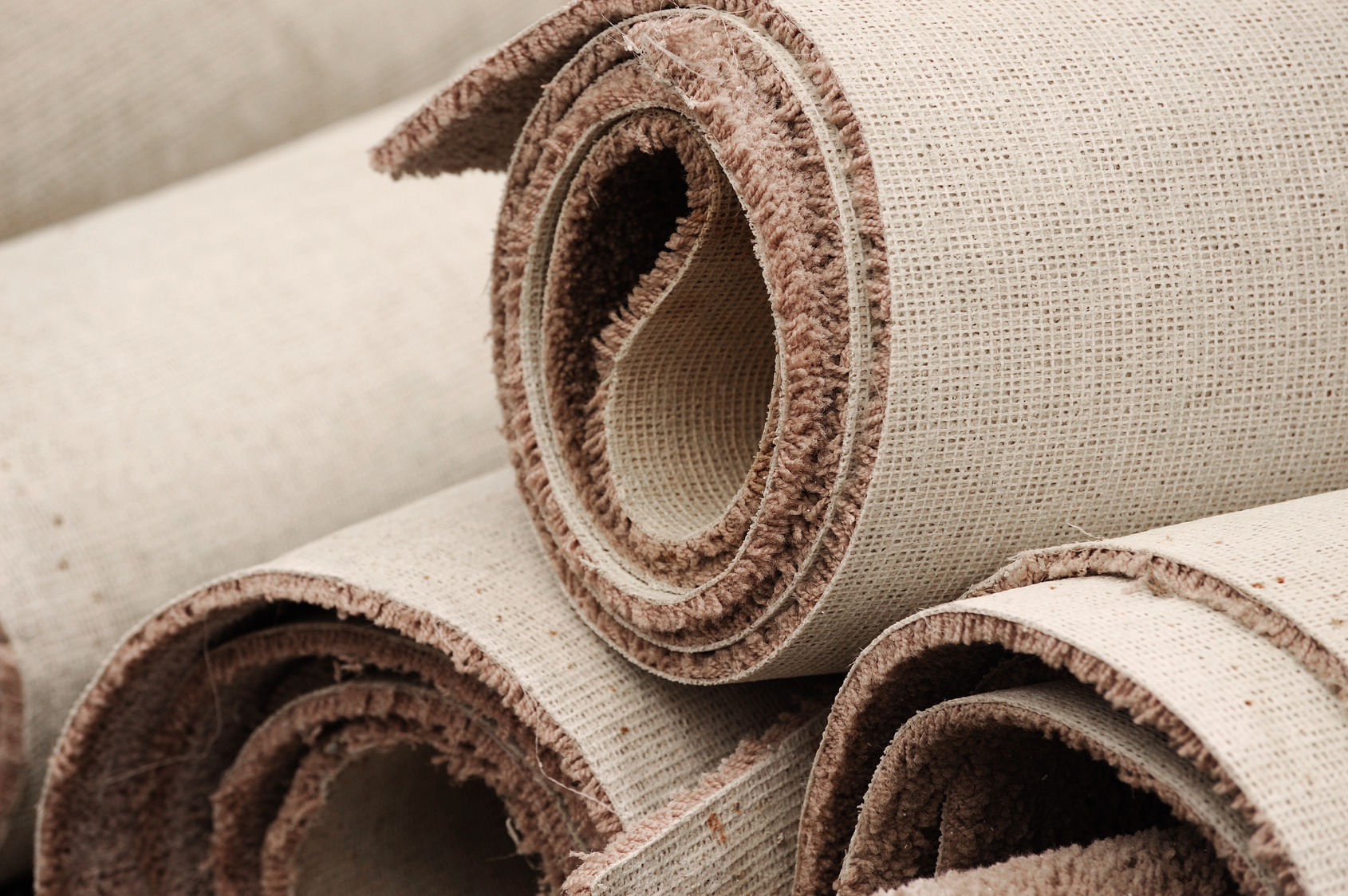 Carpet rolls ready for a Lewisville, TX professional installation