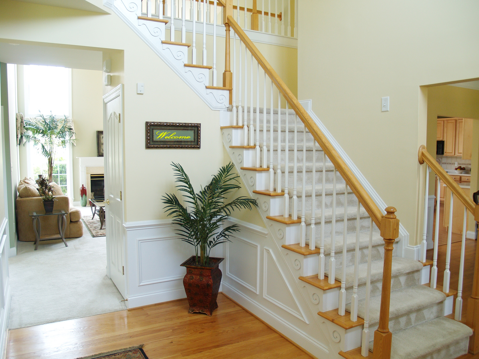 Carpeted stairs in a Sacramento, CA home