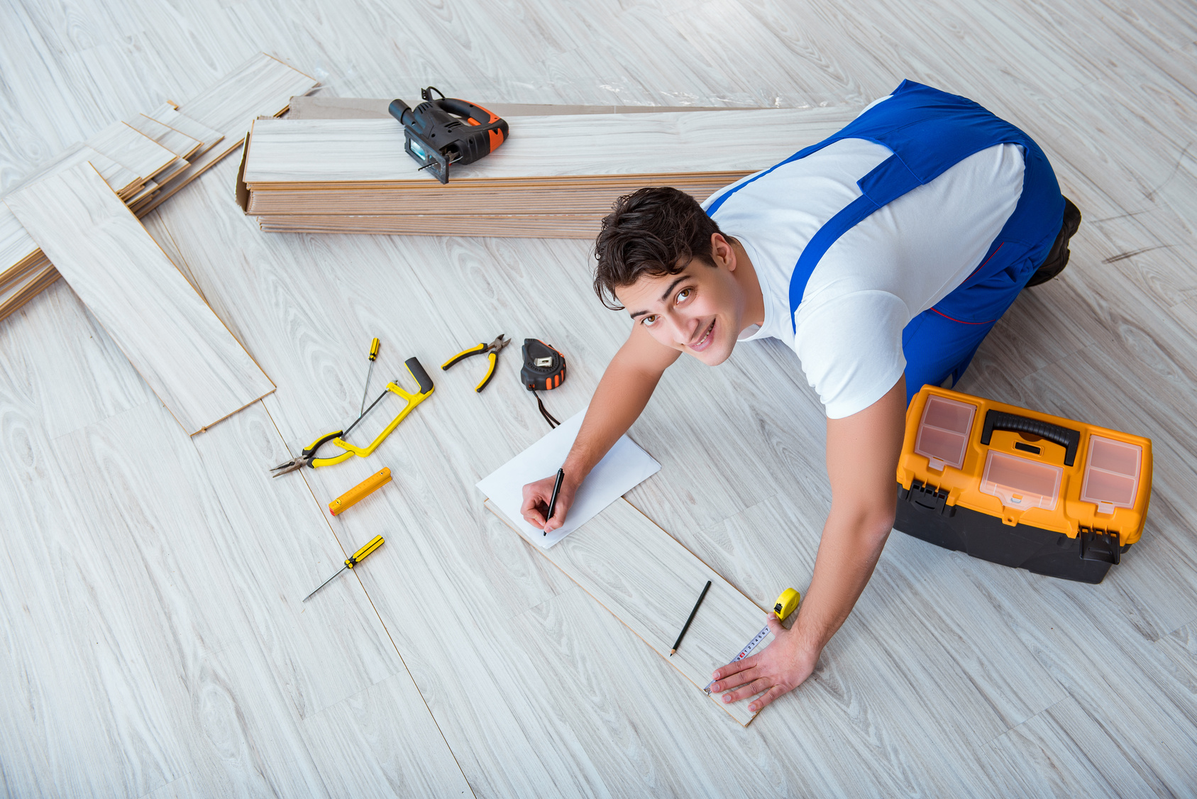 Professional flooring installation in a Florida home from Flooring Express