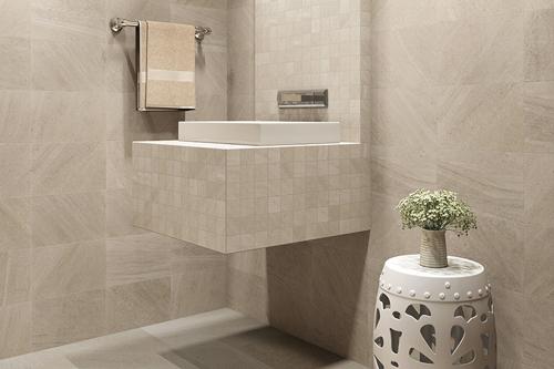 Tile installation in a Cedar Grove, WI master bathroom