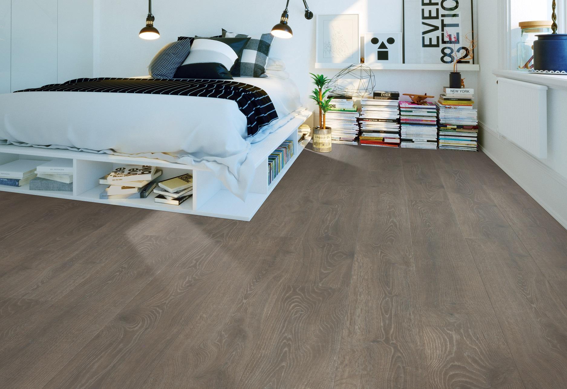 Waterproof laminate flooring in an Amissville, VA bedroom
