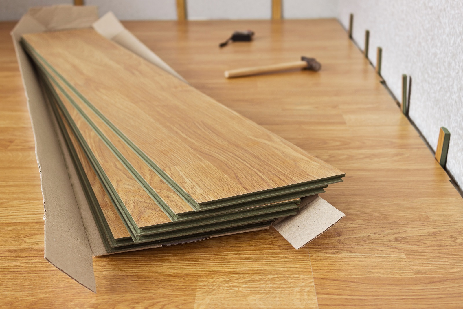 Professional flooring installation in a North Royalton, OH home