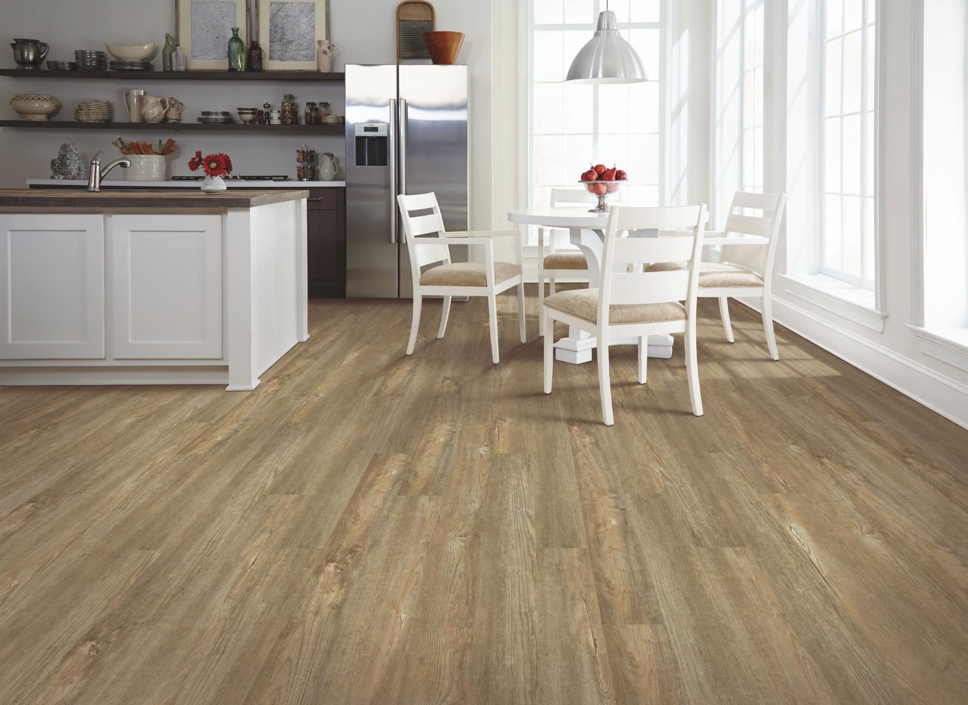 luxury vinyl plank waterproof kitchen flooring in Maple Ridge