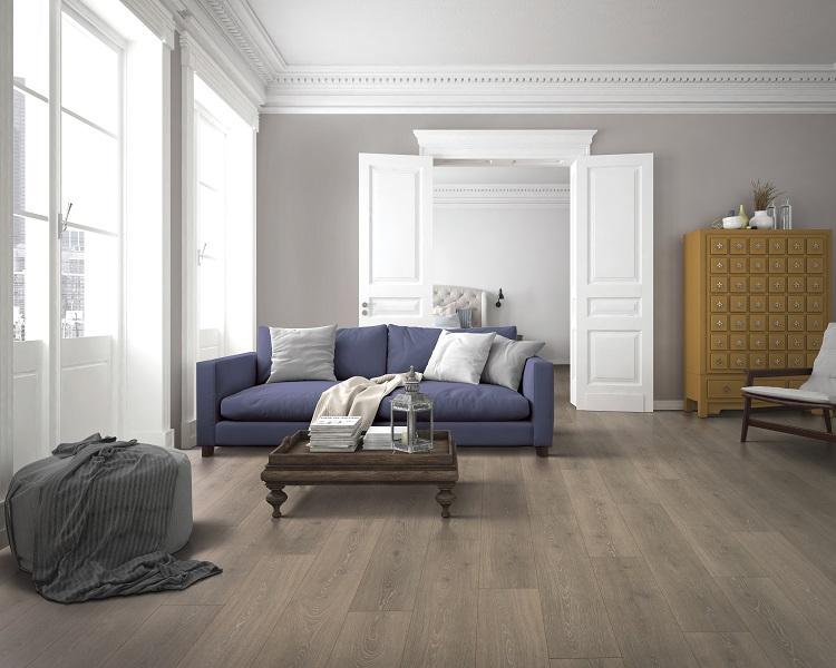 Wood look laminate flooring in a modern Maple Ridge, BC home