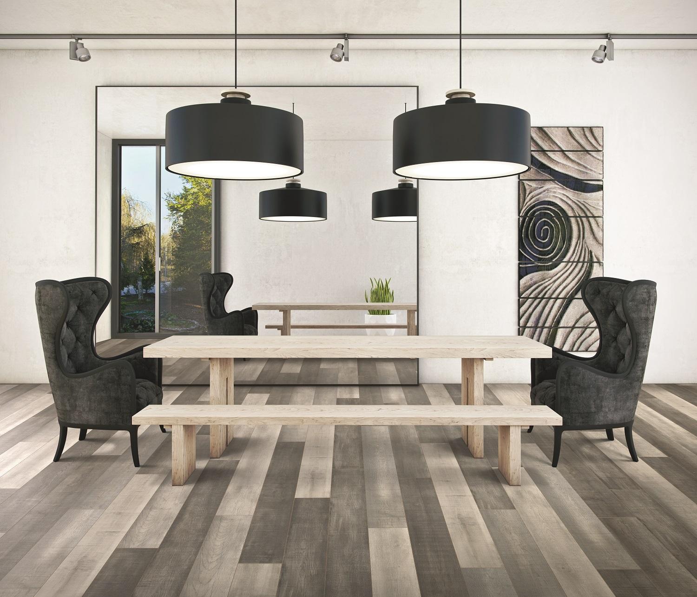 Modern laminate flooring in a Maple Ridge, BC home