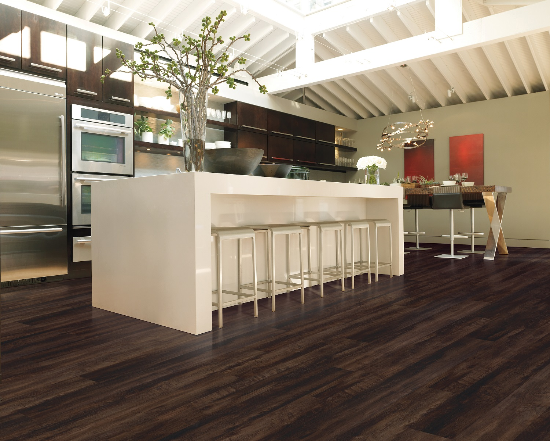 Vinyl plank flooring in a modern Maple Ridge, BC kitchen