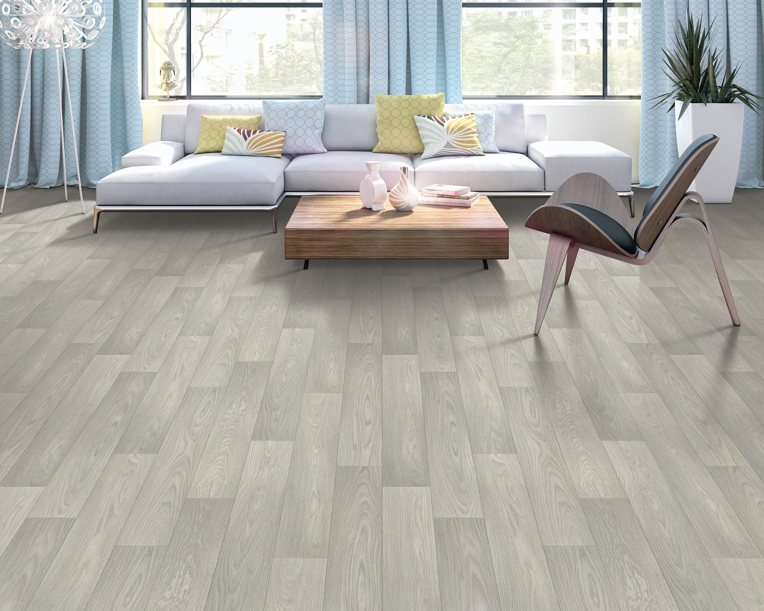 Thick and durable vinyl plank flooring in a Maple Ridge, BC home