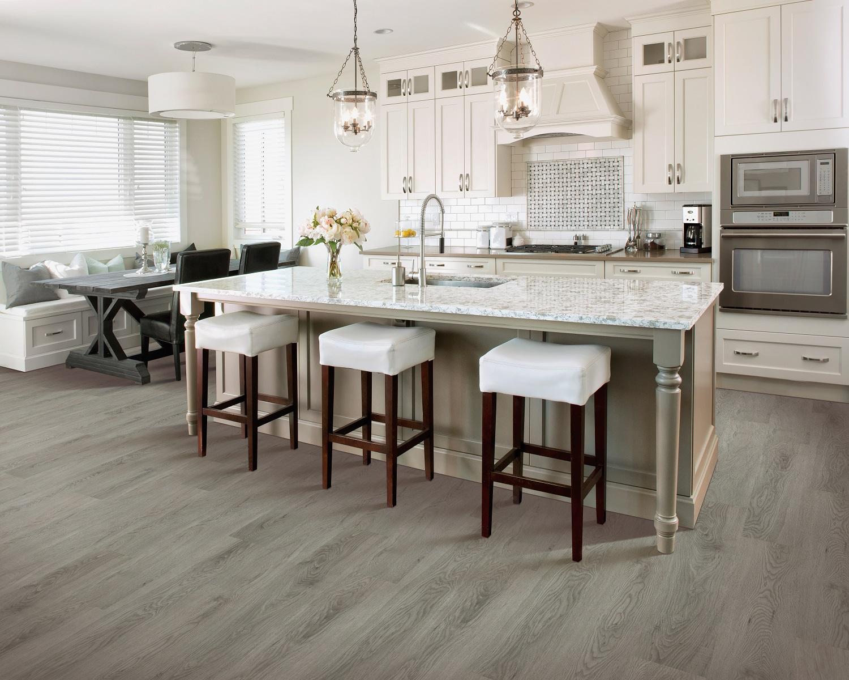 Trendy luxury vinyl plank flooring in a Maple Ridge, BC home