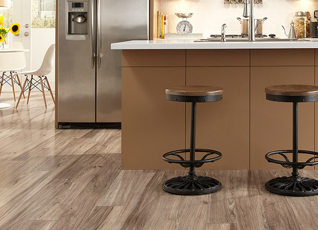 Laminate flooring installed in a Langley North, BC kitchen