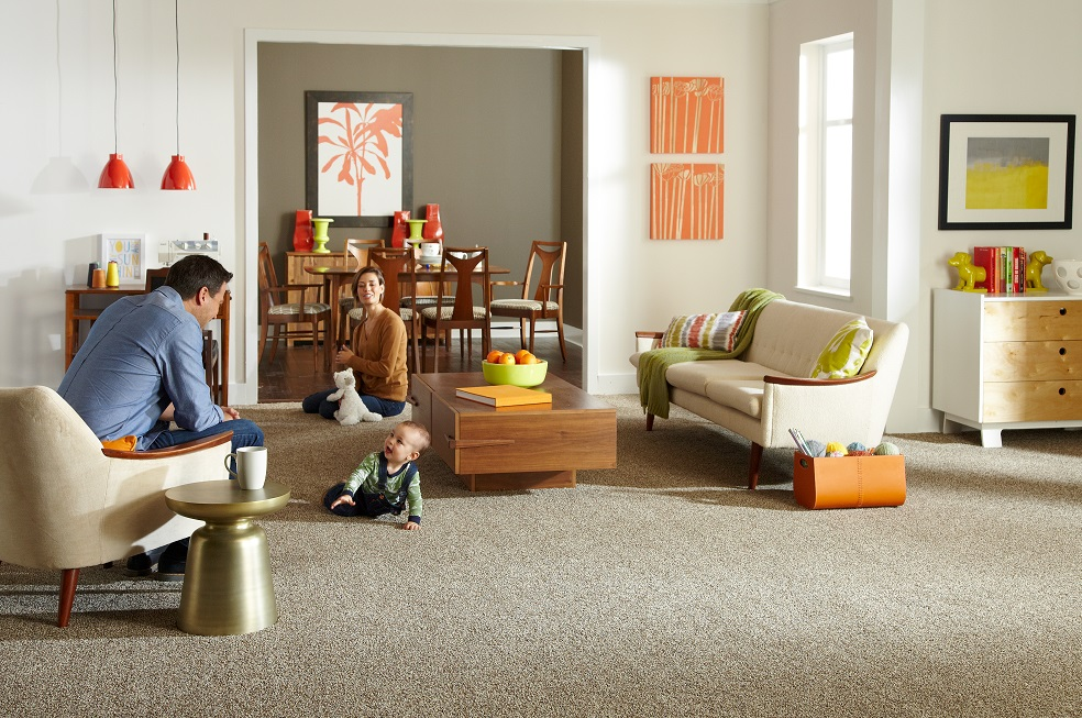 Carpet installation in a Maple Ridge, BC living space