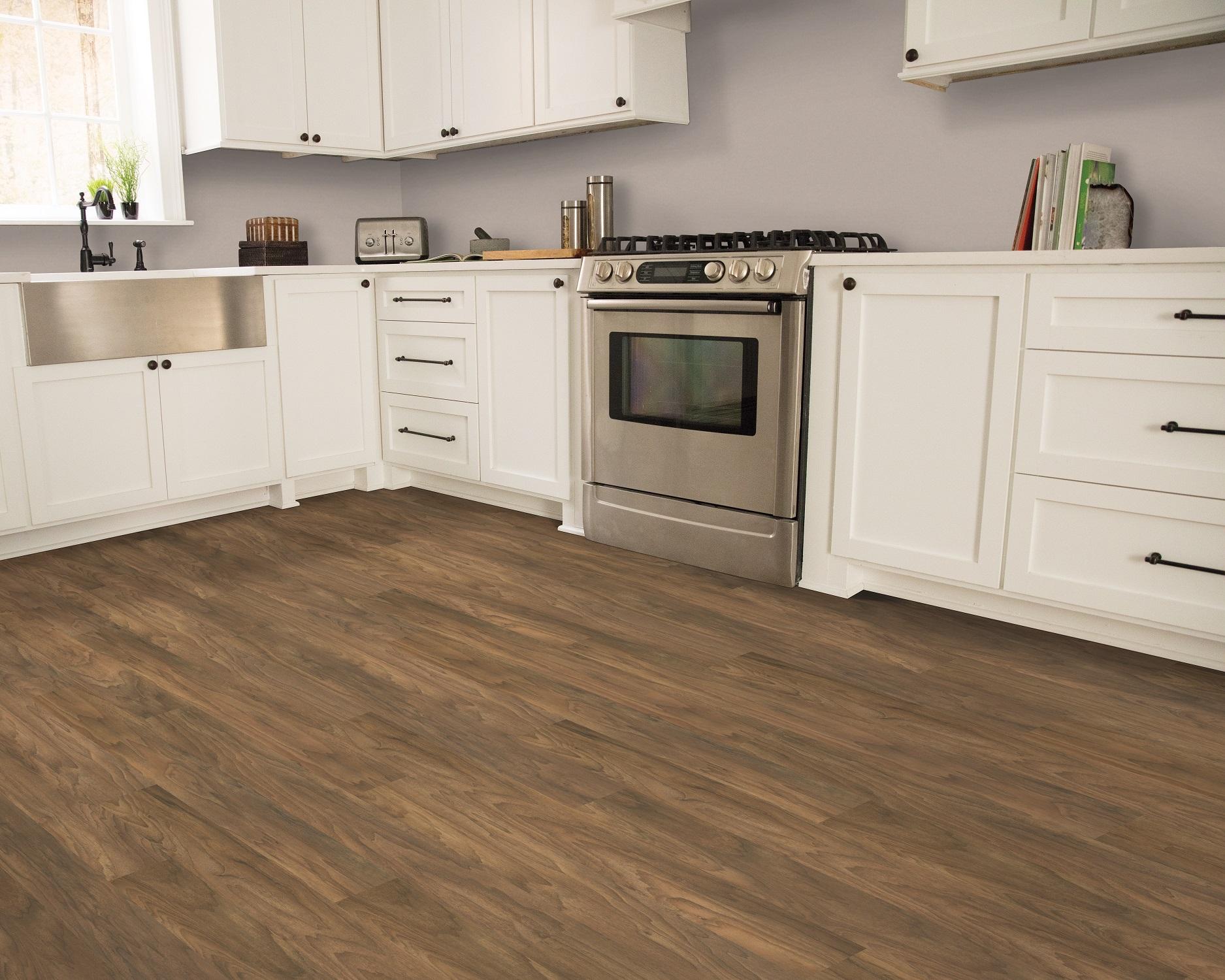 Vinyl plank flooring in a Maple Ridge, BC kitchen