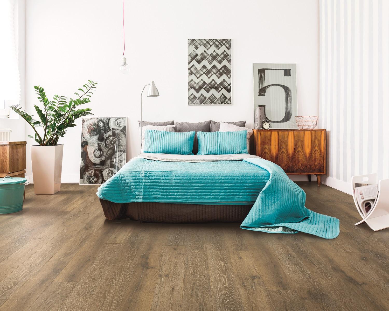 Laminate flooring installation in a Maple Ridge, BC master bedroom