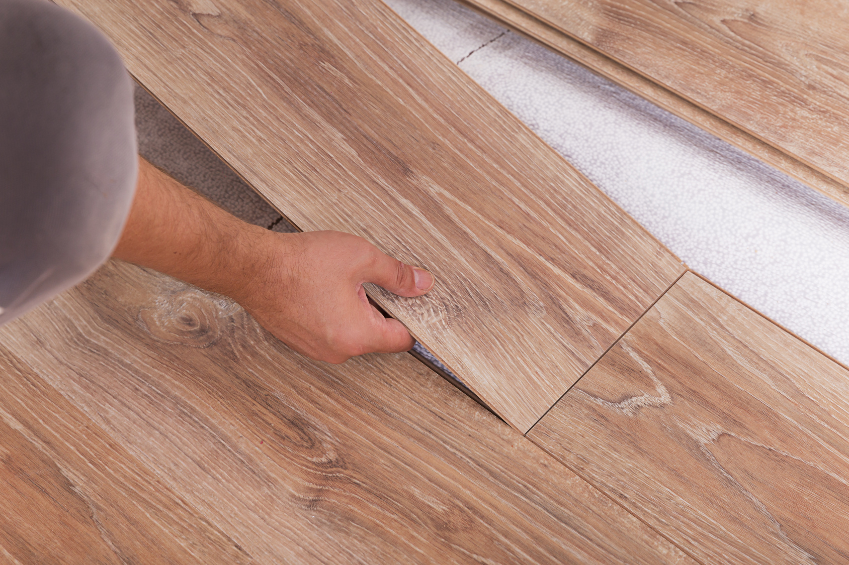 Professional flooring installation in a San Diego, CA home