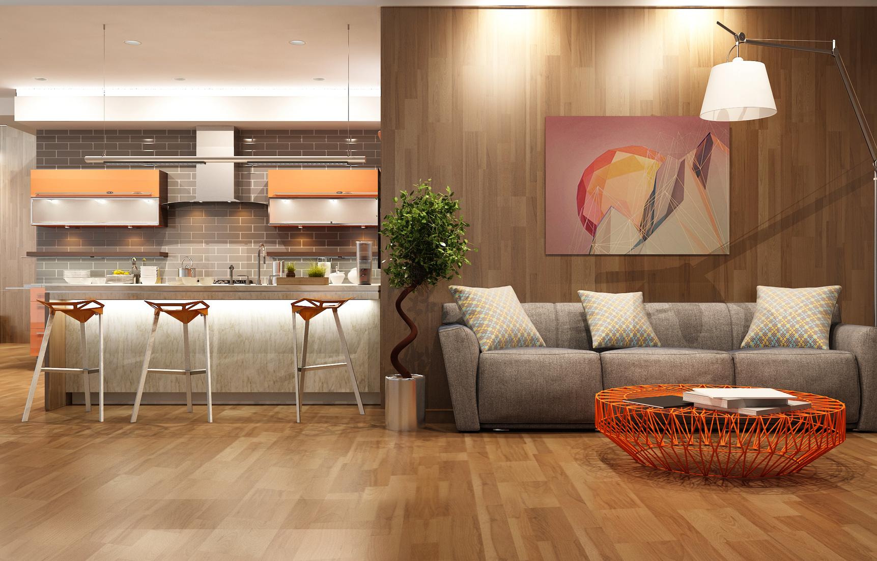 Hardwood flooring installation in a Colorado home