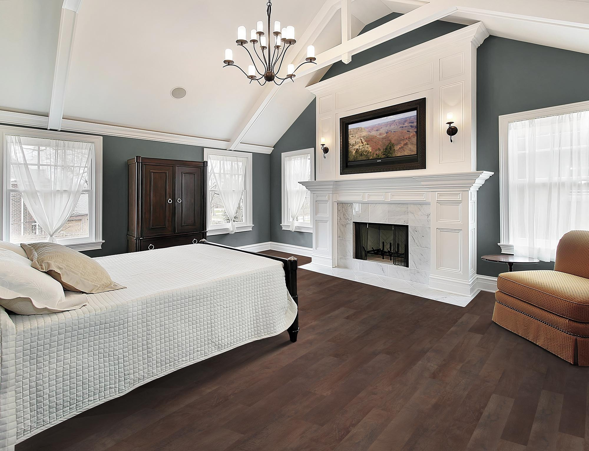 Professionally installed flooring in a Jacksonville, FL home
