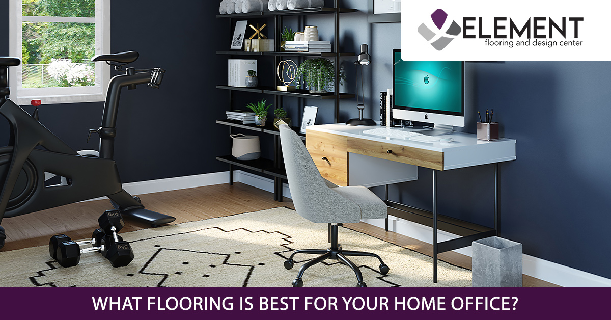 An image of hardwood floor in a home office.