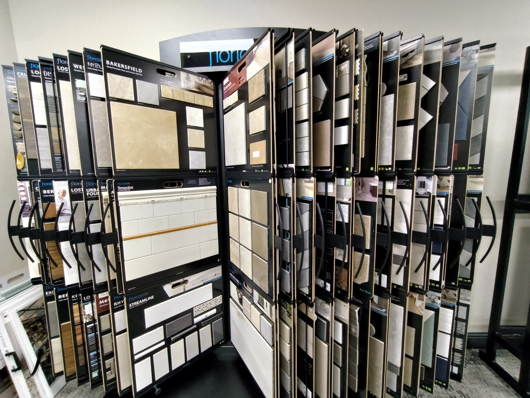 A picture of tile samples in Fort Collins, Colorado.