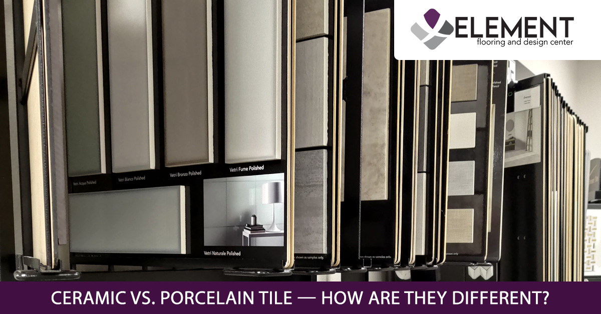 A picture of samples of porcelain tile.