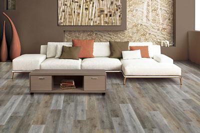 Durable luxury vinyl flooring in a Richmond, BC home