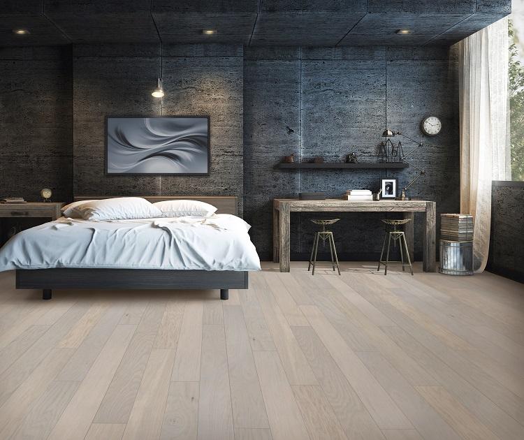 Beautiful wood floors in a Lebanon, PA master bedroom