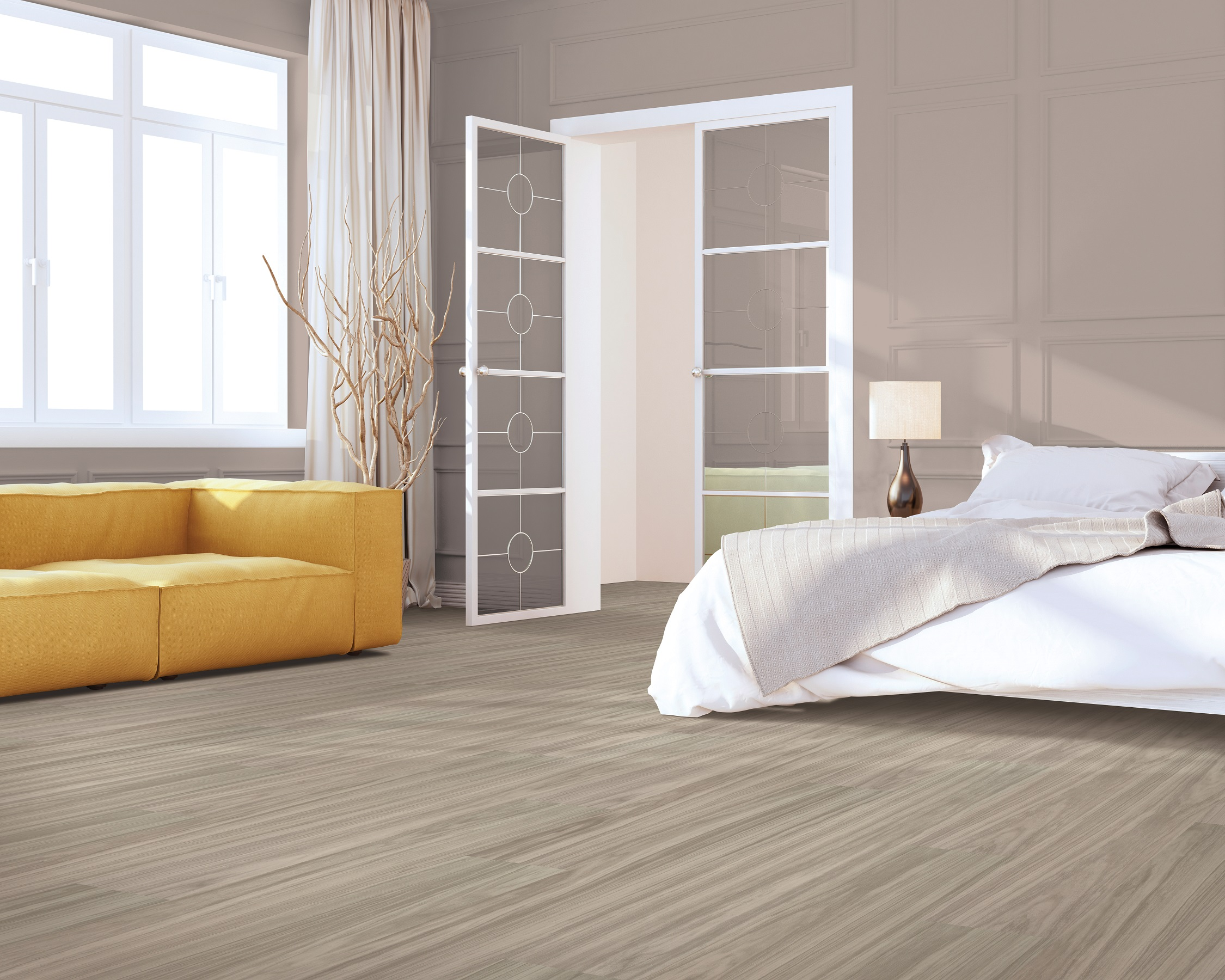 Luxury vinyl plank flooring in a Fort Myers, FL home
