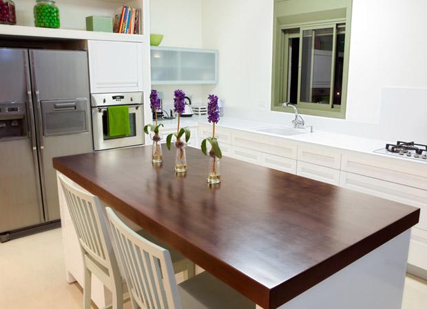 Clean kitchen countertops in a Denham Springs, LA home