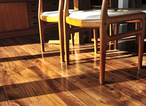 Hardwood flooring installation from Marion's Carpet World in Portland, OR