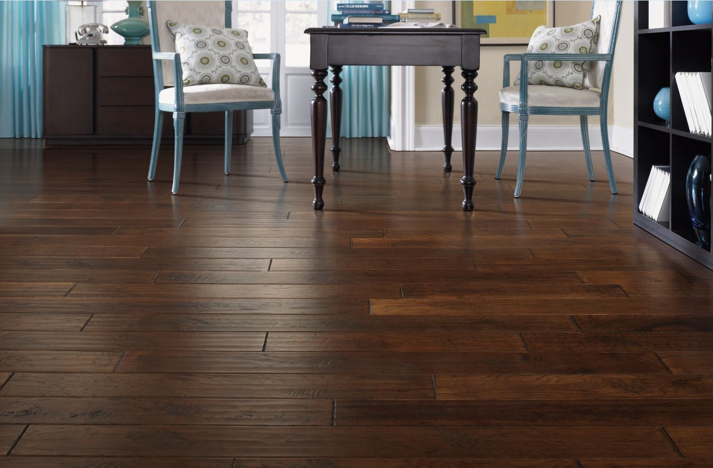 Gorgeous hardwood flooring in a Portland, OR home