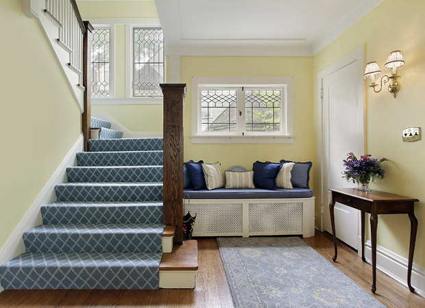 Stairway carpet installation in a Portland, OR home