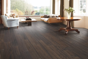 Professionally installed hardwood flooring in a Portland, OR home