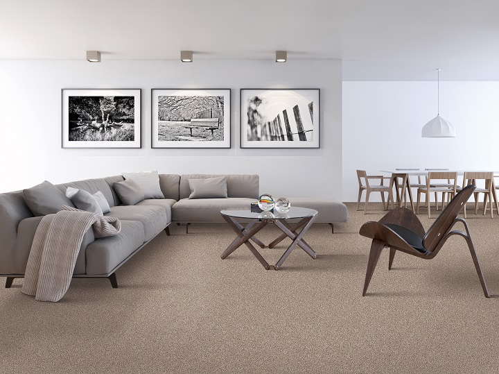 Carpet installation in a modern Portland, OR home