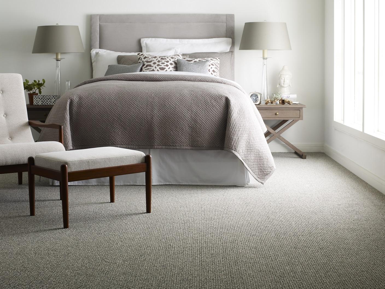 Carpet installation in a Portland, OR bedroom