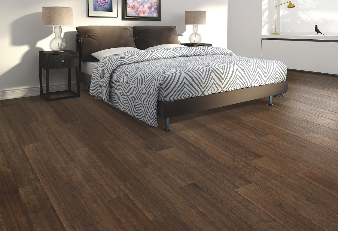 Acclimated hardwood flooring installation in a Lake Oswego, OR home