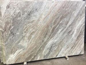 Slab of fantasy brown leathered granite for countertops