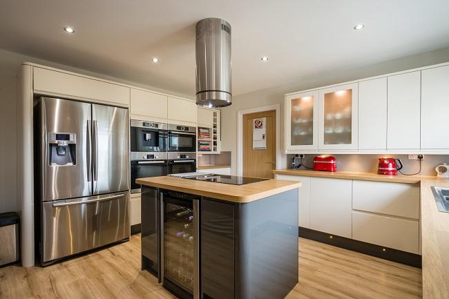 First Us Floors Blog, Install Flooring Around Kitchen Cabinets