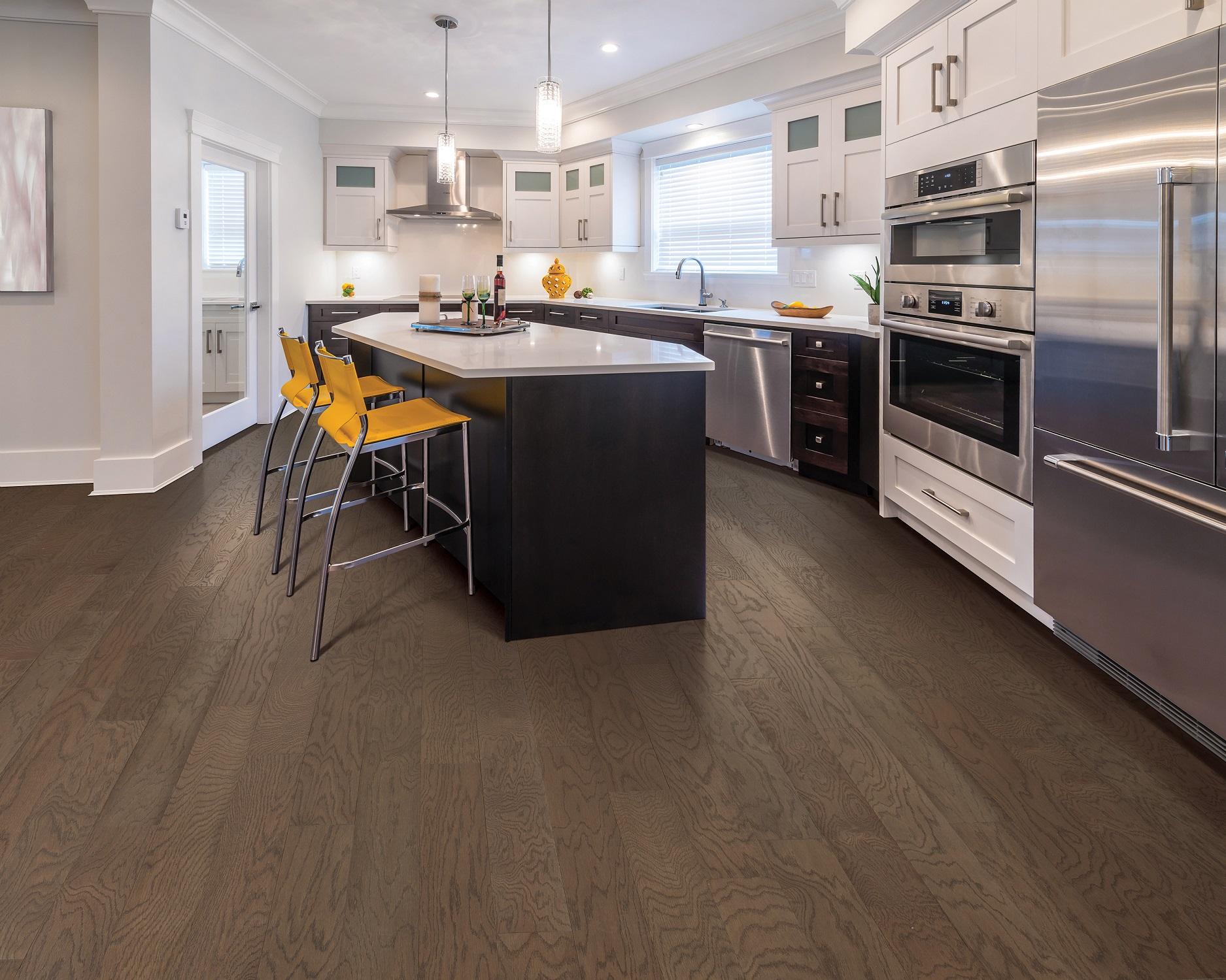 Trendy hardwood flooring in a Keller, TX kitchen