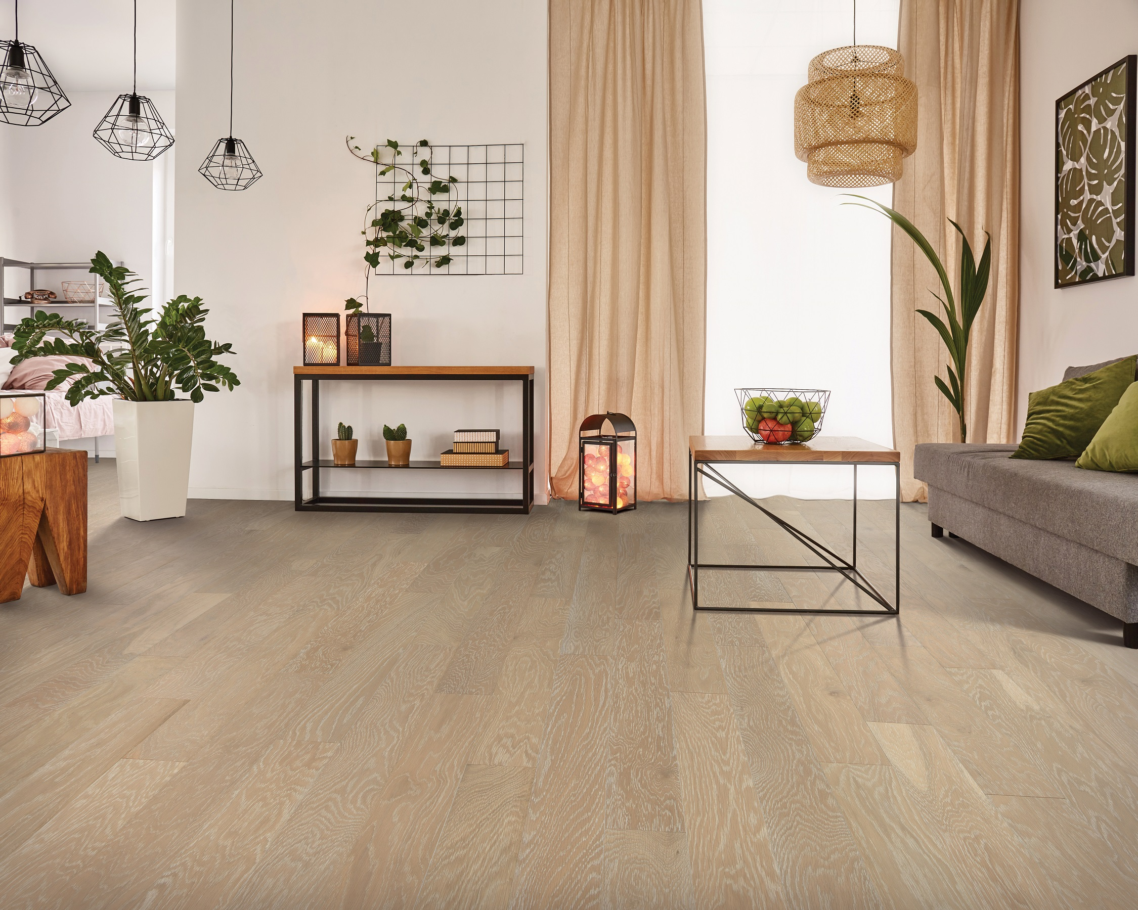 Hardwood flooring in a Fort Worth, TX home