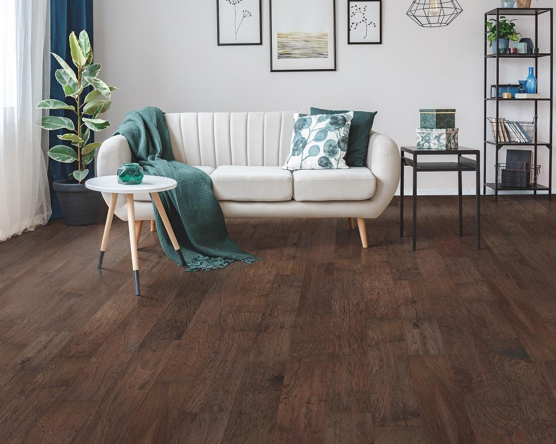 Dark-tone hardwood flooring in a Keller, TX home