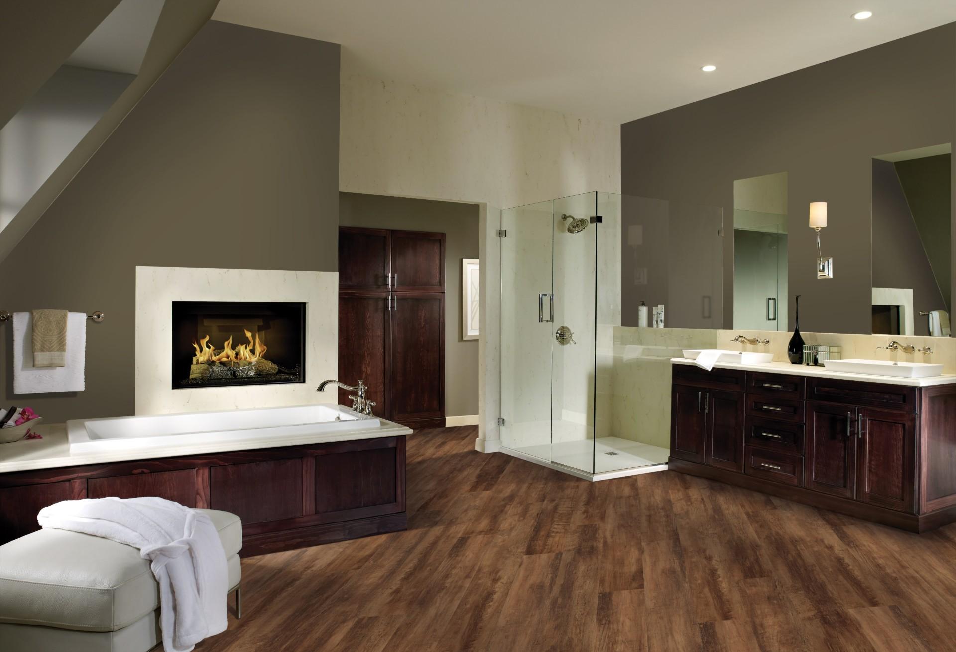 Waterproof bathroom flooring in Omaha Nebraska