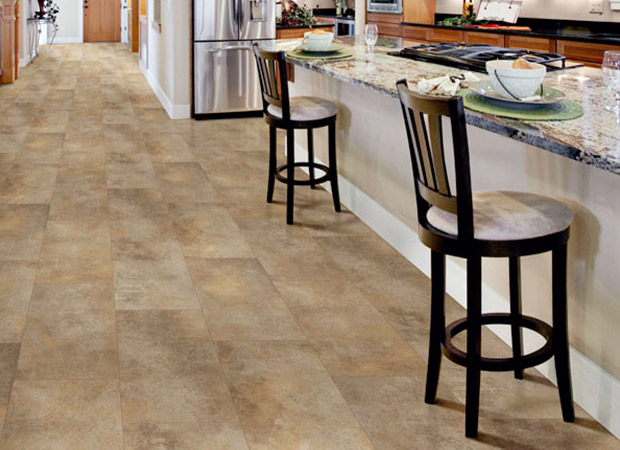 Luxury vinyl tile flooring from Kelly's Carpet Omaha in Omaha, NE