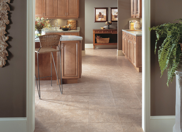 Luxury vinyl tile flooring fromKelly's Carpet Omaha in Omaha, NE