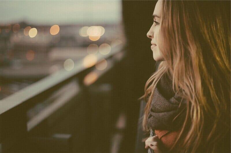 beautiful girl looking