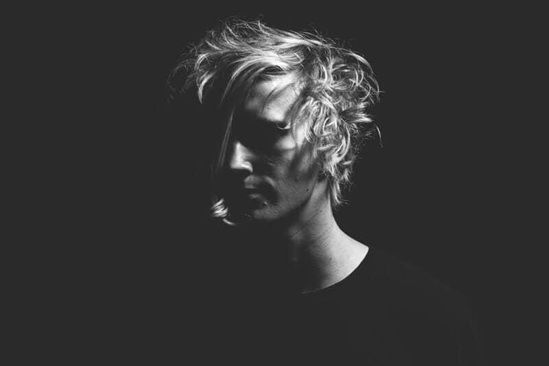 man in black & white