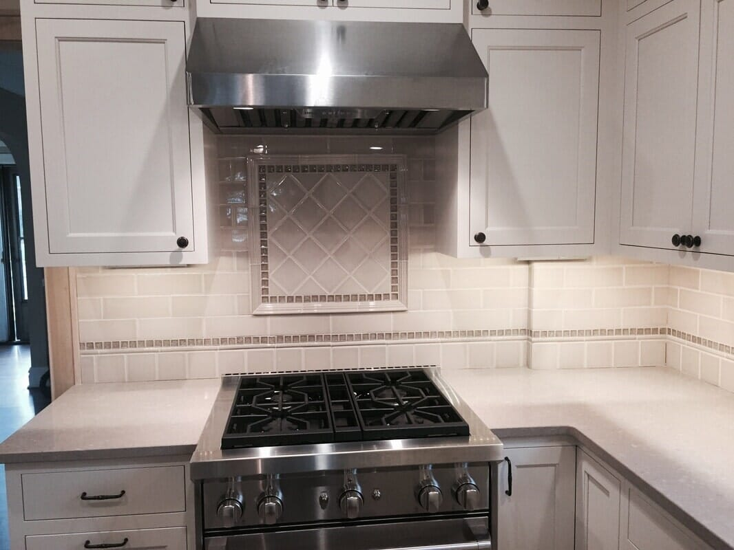 Custom tile backsplash in Hinsdale IL by Desitter Flooring
