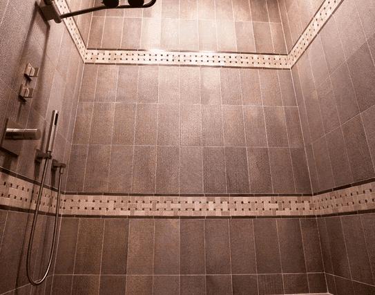 Spa shower installation in West Chicago IL by Desitter Flooring
