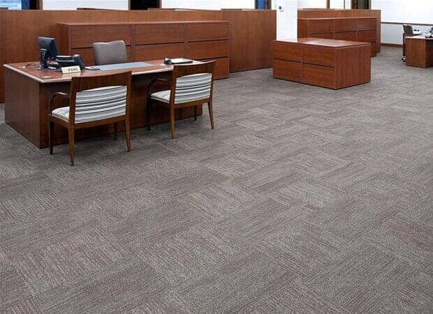 Commercial carpet tile in Winfield IL by Desitter Flooring