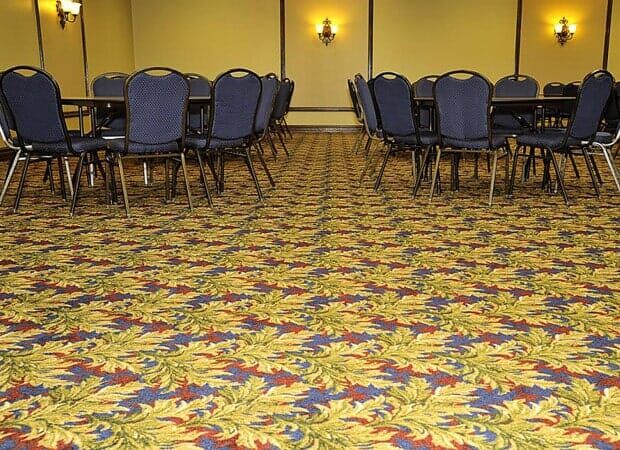 Conference center commercial flooring in Hinsdale IL by Desitter Flooring